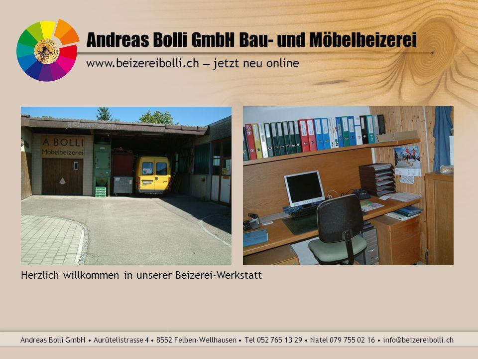 Andreas Bolli GmbH Bau- und Möbelbeizerei Andreas Bolli GmbH Aurütelistrasse 4 8552 Felben-Wellhausen Tel 052 765 13 29 Natel 079 755 02 16 info@beizereibolli.ch www.beizereibolli.ch – jetzt neu online Änderung am Parkettboden fachgerecht ergänzt und behandelt