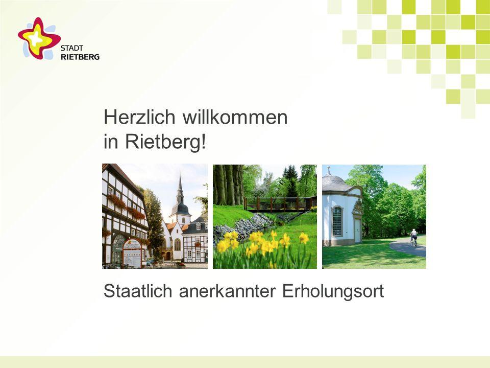 Herzlich willkommen in Rietberg! Staatlich anerkannter Erholungsort