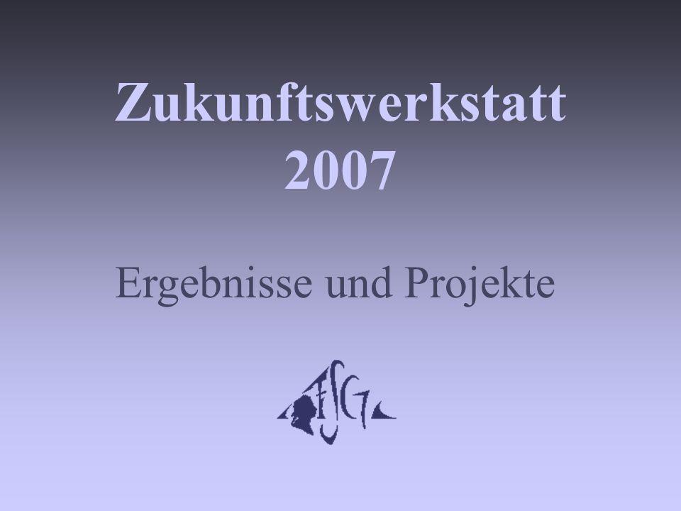 Zukunftswerkstatt 2007 Ergebnisse und Projekte