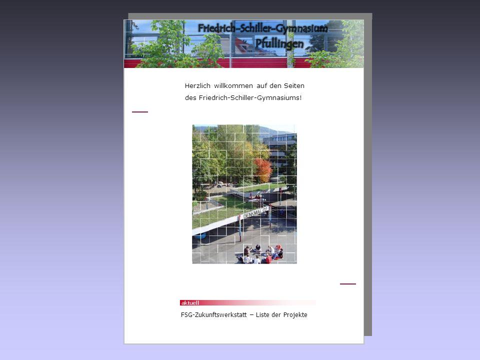 Herzlich willkommen auf den Seiten des Friedrich-Schiller-Gymnasiums! FSG-Zukunftswerkstatt – Liste der Projekte
