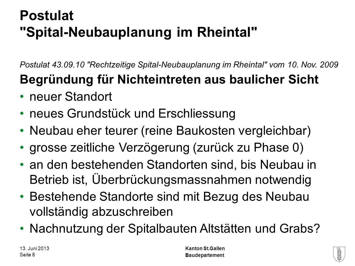 Kanton St.Gallen Interpellation Spitalausbauten trotz Baumoratorium Interpellation 51.11.05 Spitalausbauten trotz Baumoratorium vom 21.