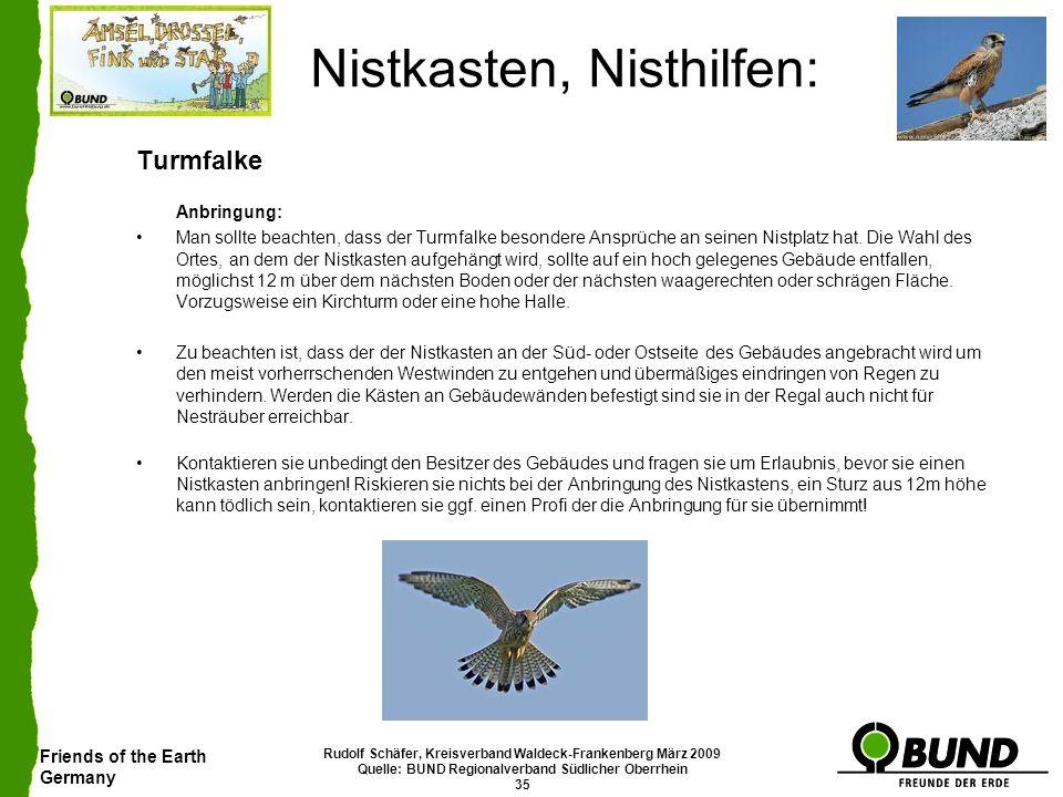 Friends of the Earth Germany Rudolf Schäfer, Kreisverband Waldeck-Frankenberg März 2009 Quelle: BUND Regionalverband Südlicher Oberrhein 35 Nistkasten