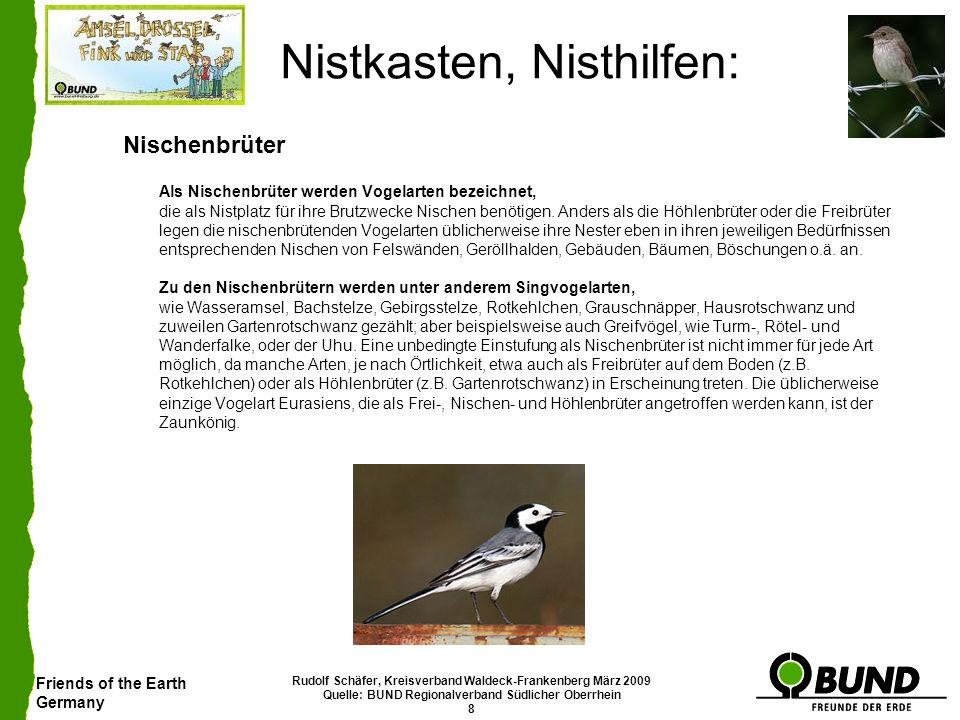 Friends of the Earth Germany Rudolf Schäfer, Kreisverband Waldeck-Frankenberg März 2009 Quelle: BUND Regionalverband Südlicher Oberrhein 8 Nistkasten,