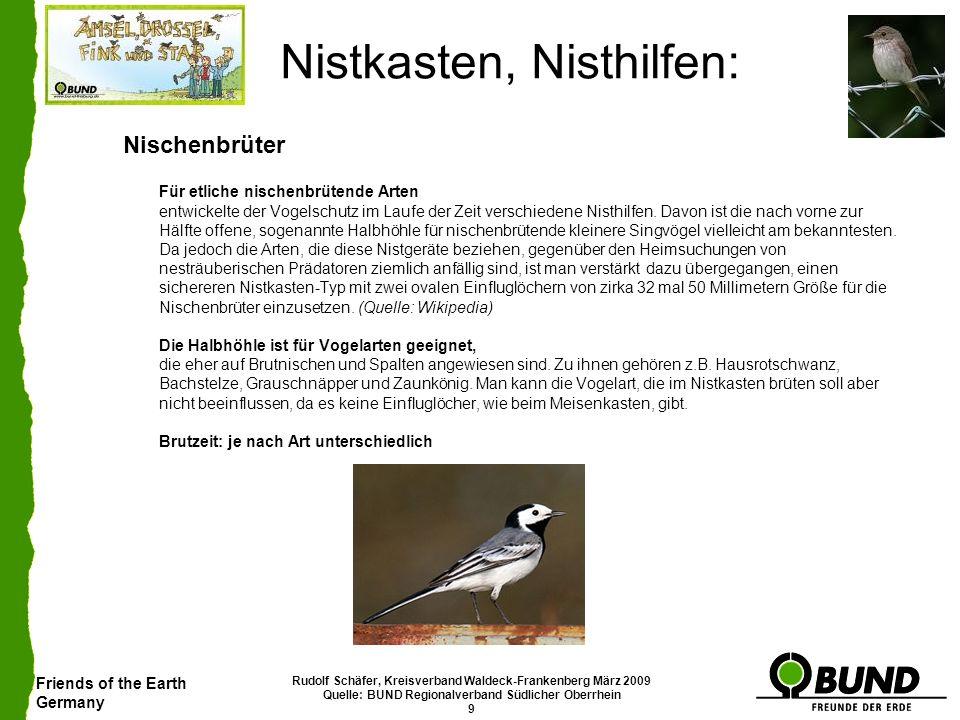 Friends of the Earth Germany Rudolf Schäfer, Kreisverband Waldeck-Frankenberg März 2009 Quelle: BUND Regionalverband Südlicher Oberrhein 9 Nistkasten,