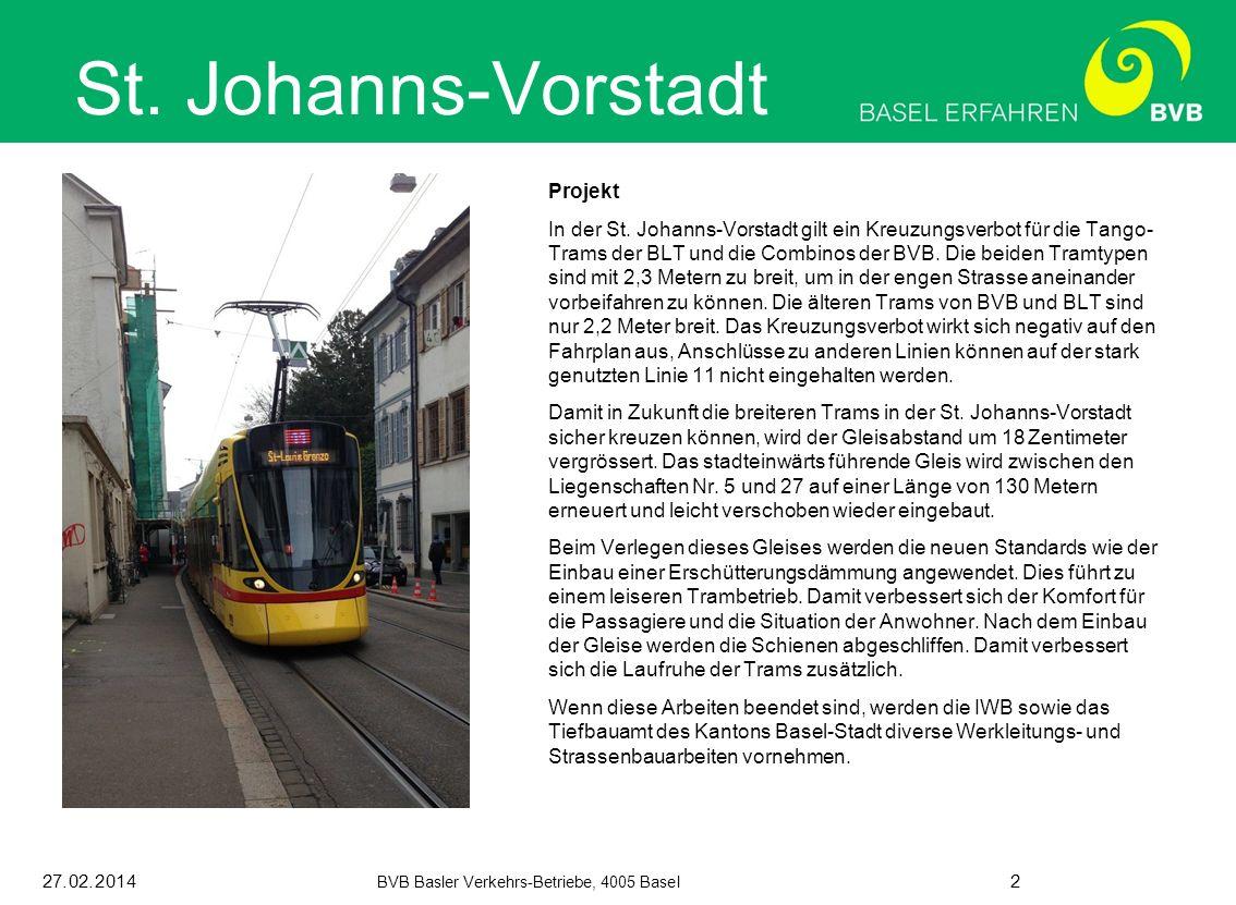 27.02.2014 BVB Basler Verkehrs-Betriebe, 4005 Basel 2 St.