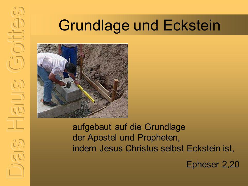 Steine in welchem auch ihr mitaufgebaut werdet zu einer Behausung Gottes im Geist.