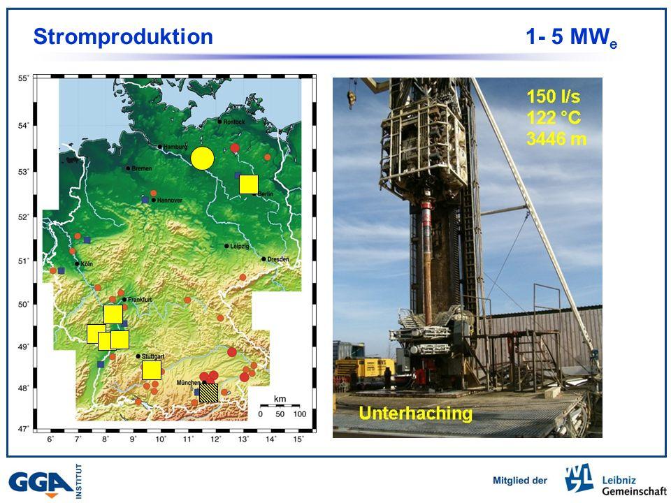 Im Bau Stromproduktion 1- 5 MW e 7 Anlagen Projekt Unterhaching Stromleistung: ca. 3 MW