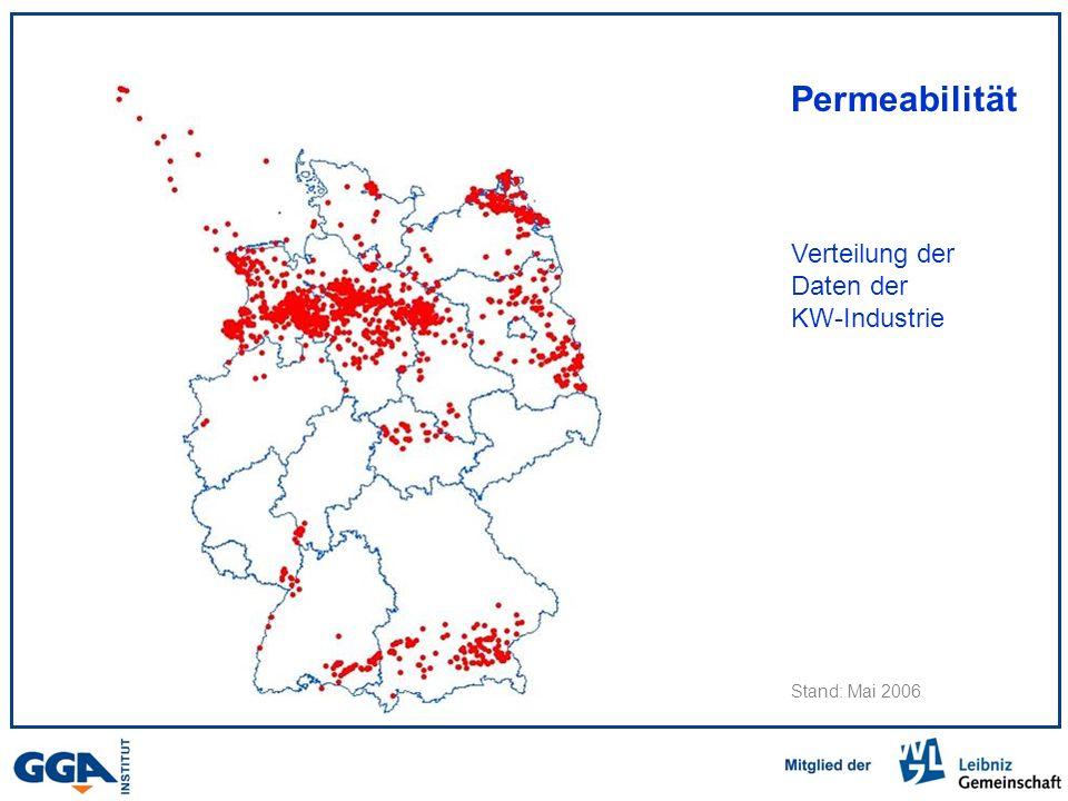 Permeabilität Verteilung der Daten der KW-Industrie Stand: Mai 2006