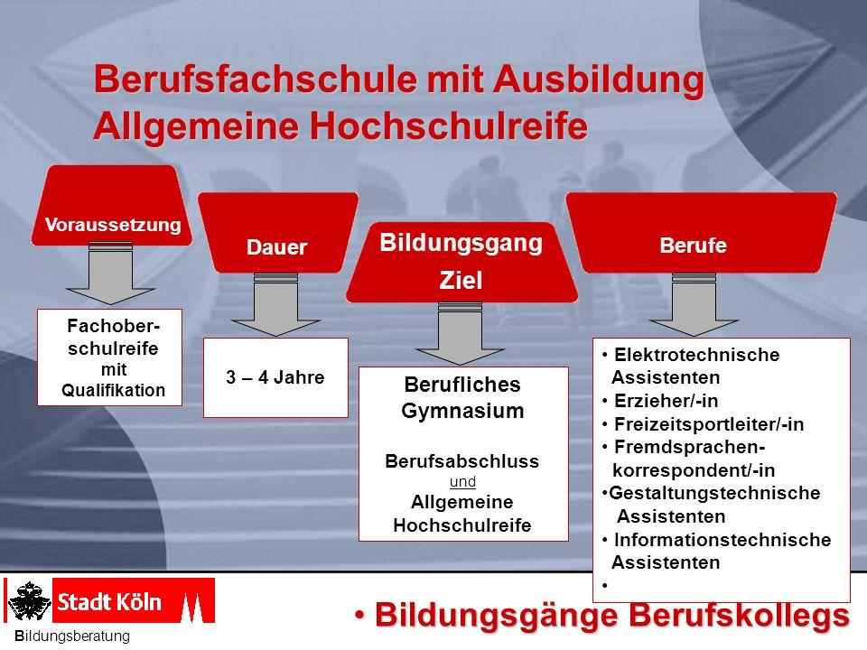 Berufsfachschule mit Ausbildung Allgemeine Hochschulreife Dauer Berufe Bildungsgang Ziel Berufliches Gymnasium Berufsabschluss und Allgemeine Hochschu