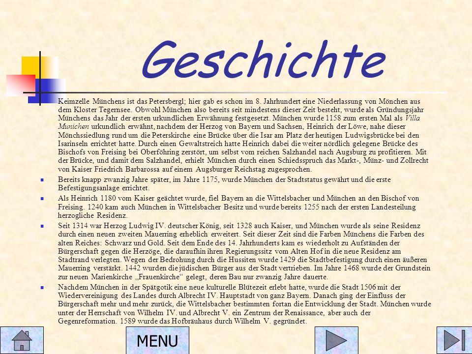 Geschichte Keimzelle Münchens ist das Petersbergl; hier gab es schon im 8.
