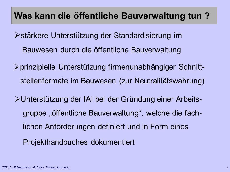 BBR, Dr.Kaltenbrunner, AL Bauen, Wohnen, Architektur8 Was kann die öffentliche Bauverwaltung tun .