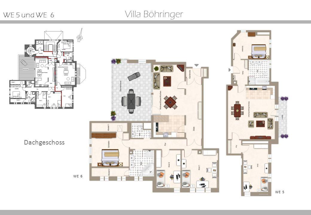 Villa Böhringer WE 5 WE 6 Dachgeschoss WE 5 und WE 6