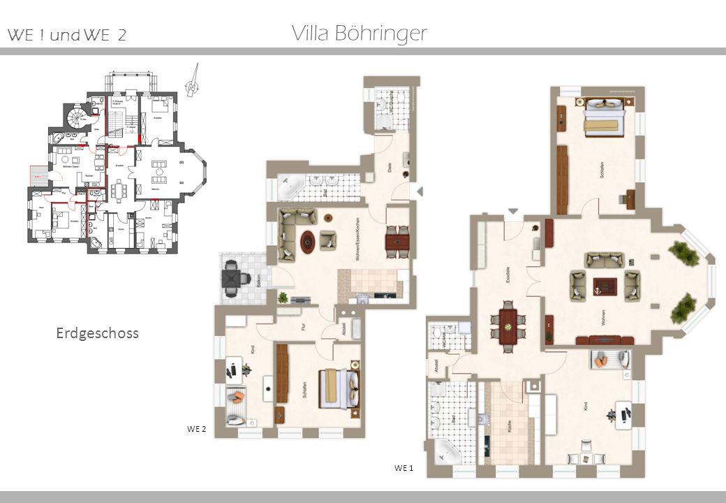 Erdgeschoss Villa Böhringer WE 2 WE 1 WE 1 und WE 2