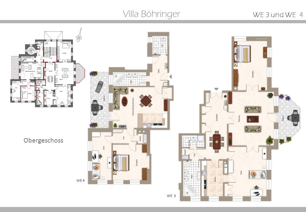 Villa Böhringer WE 3 WE 4 Obergeschoss WE 3 und WE 4