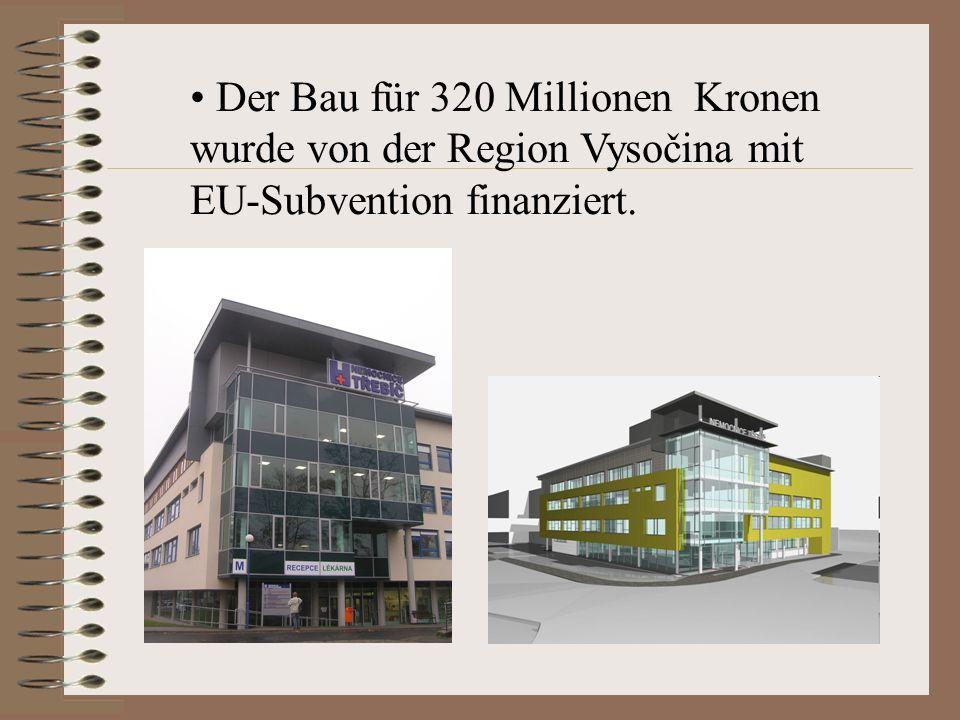 Der Bau für 320 Millionen Kronen wurde von der Region Vysočina mit EU-Subvention finanziert.