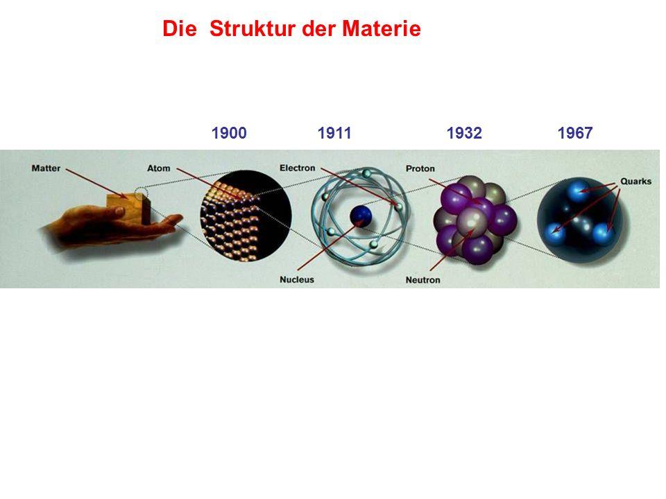 Die Struktur der Materie 1900 1911 1932 1967