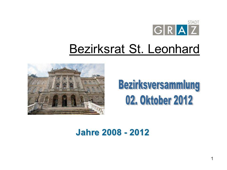1 Bezirksrat St. Leonhard Jahre 2008 - 2012