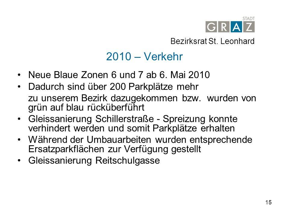 15 2010 – Verkehr Neue Blaue Zonen 6 und 7 ab 6.