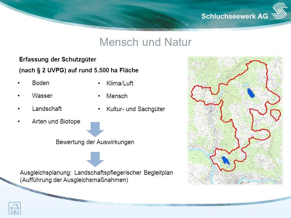Mensch und Natur Erfassung der Schutzgüter (nach § 2 UVPG) auf rund 5.500 ha Fläche Boden Wasser Landschaft Arten und Biotope Klima/Luft Mensch Kultur