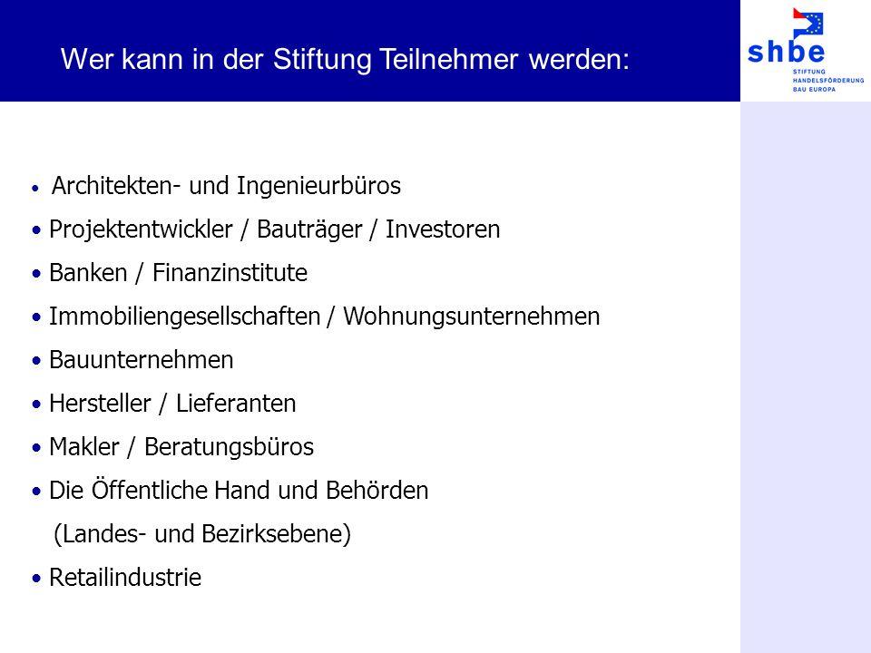 Architekten- und Ingenieurbüros Projektentwickler / Bauträger / Investoren Banken / Finanzinstitute Immobiliengesellschaften / Wohnungsunternehmen Bau