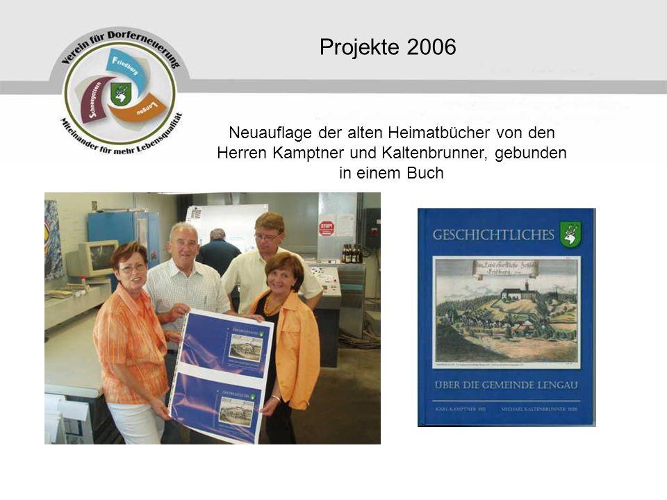 Projekte 2006 Neuauflage der alten Heimatbücher von den Herren Kamptner und Kaltenbrunner, gebunden in einem Buch