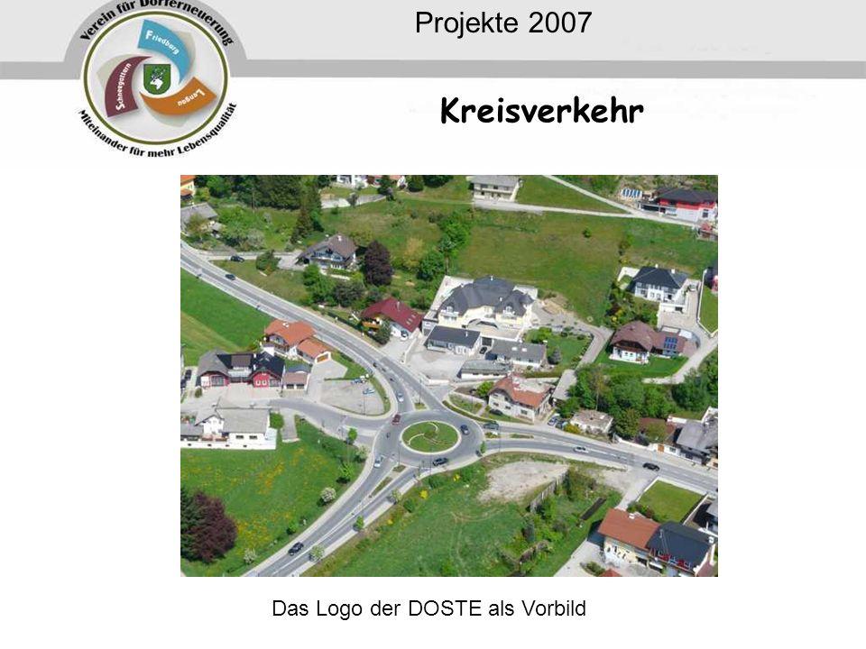 Kreisverkehr Projekte 2007 Das Logo der DOSTE als Vorbild