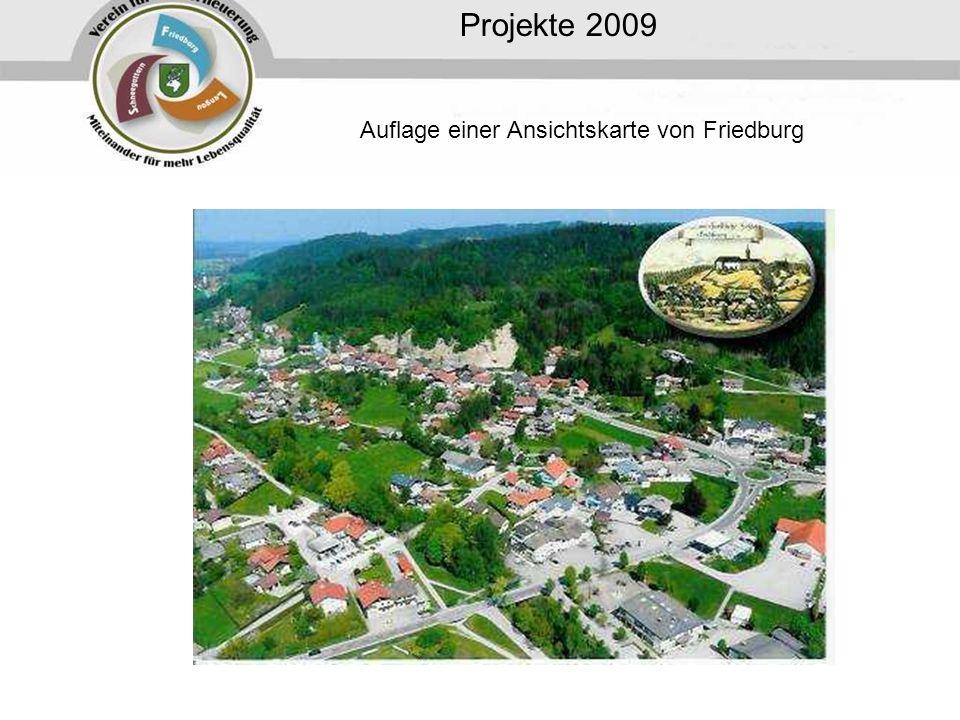Projekte 2009 Auflage einer Ansichtskarte von Friedburg