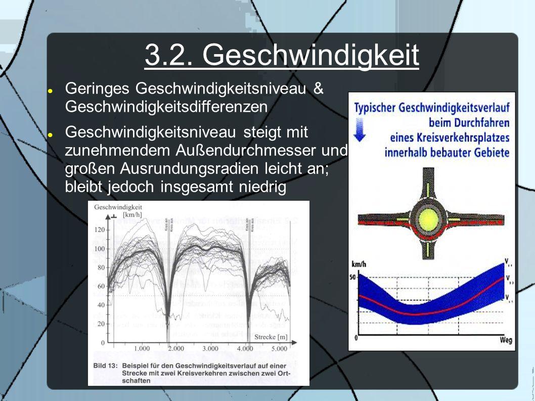 3.2. Geschwindigkeit Geringes Geschwindigkeitsniveau & Geschwindigkeitsdifferenzen Geschwindigkeitsniveau steigt mit zunehmendem Außendurchmesser und