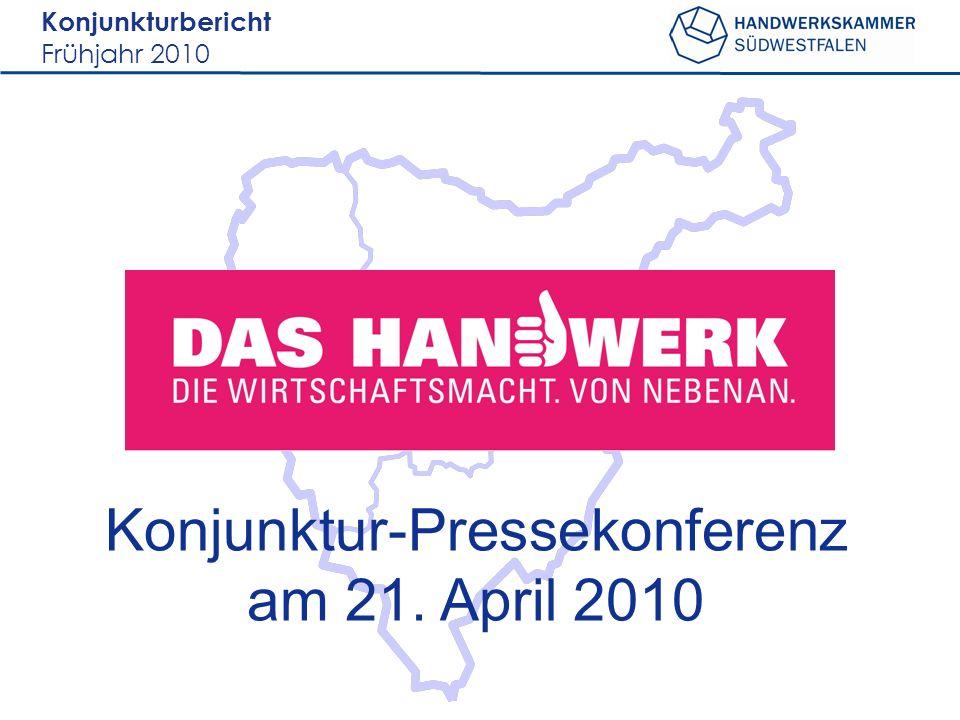 Konjunkturbericht Frühjahr 2010 Märkischer Kreis Kreis Olpe Kreis Siegen- Wittgenstein Hochsauerlandkreis 2000 befragte Betriebe Rücklauf= 530 Rücklaufquote = 26,5%