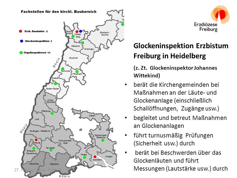 Die 11 Orgelinspektoren im Bereich des Erzbistum Freiburg beraten in ihrem jeweiligen Zuständigkeitsbezirk die Kirchengemeinden bei Maßnahmen an den Orgeln (Neubau, Umbau, Instandhaltung, Ausreinigung usw.) begleiten und betreuen Maßnahmen an Orgeln pflegen Kontakt mit den Organisten und den Orgelbaufirmen 27.