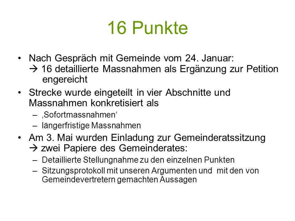 16 Punkte Nach Gespräch mit Gemeinde vom 24.
