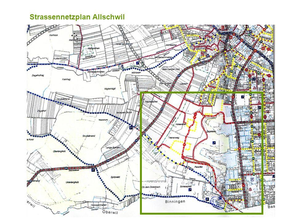 Strassennetzplan Allschwil