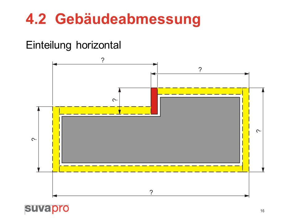 16 4.2Gebäudeabmessung Einteilung horizontal