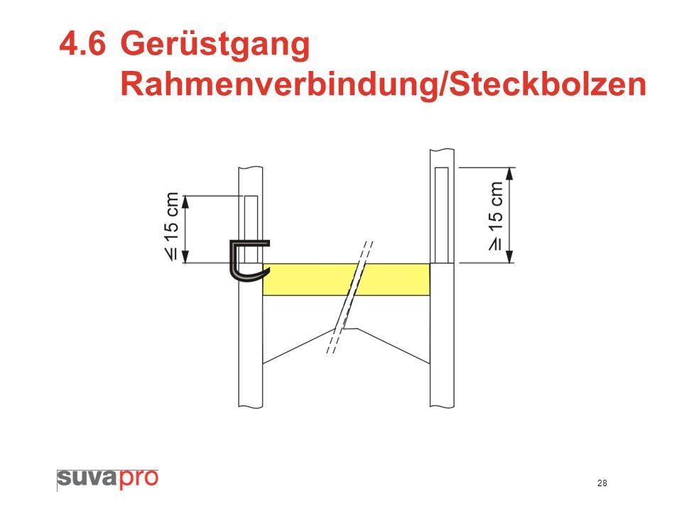 28 4.6Gerüstgang Rahmenverbindung/Steckbolzen