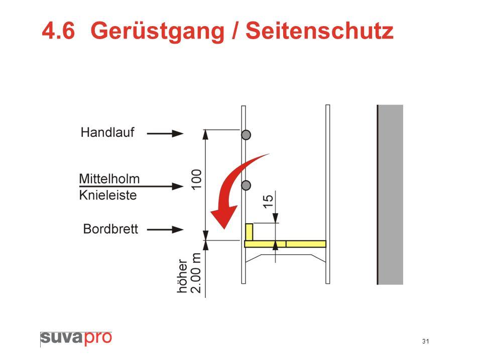 31 4.6Gerüstgang / Seitenschutz
