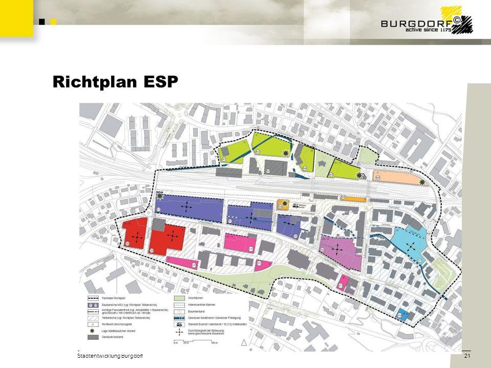 Stadtentwicklung Burgdorf21 Richtplan ESP
