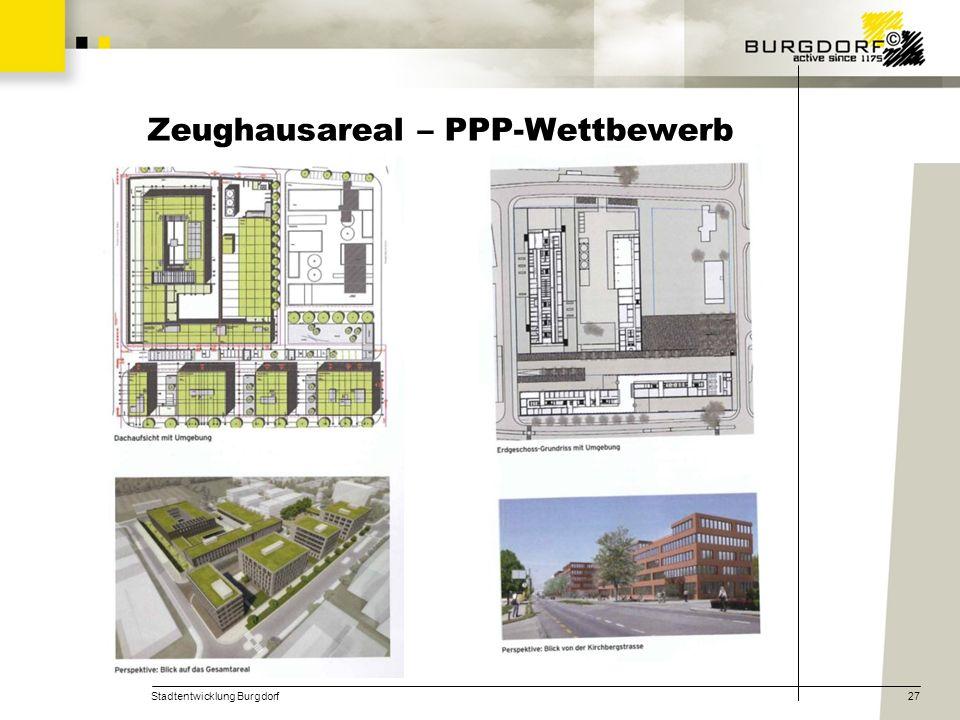Stadtentwicklung Burgdorf27 Zeughausareal – PPP-Wettbewerb