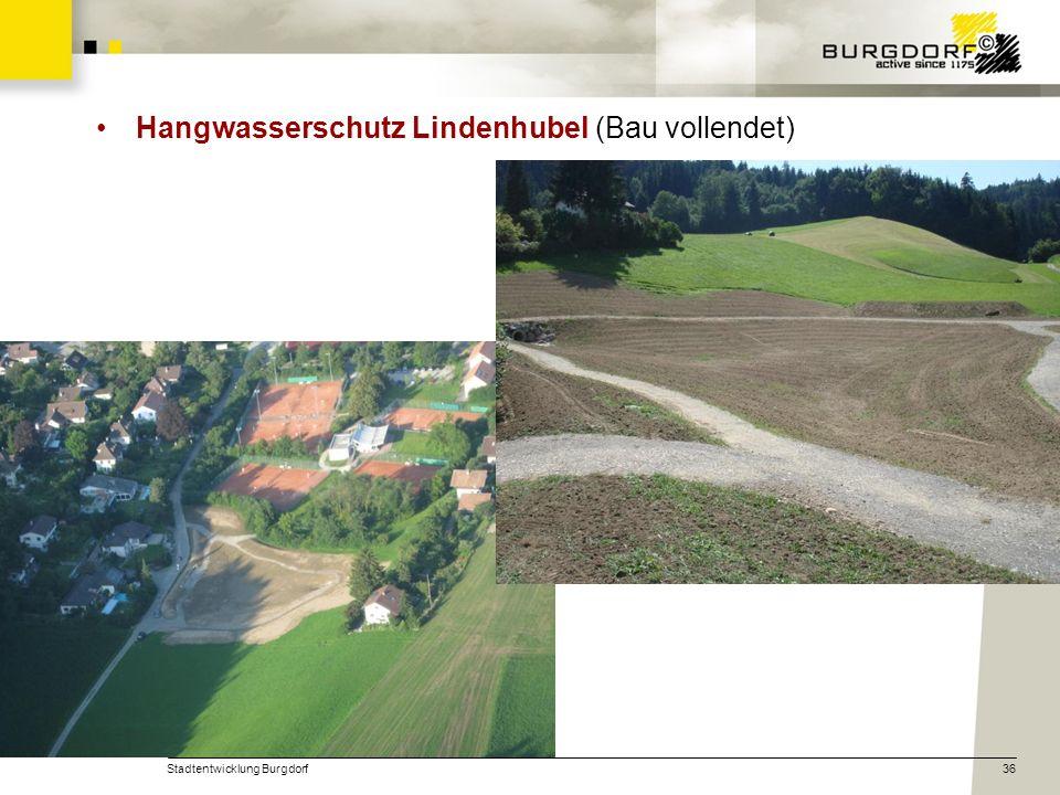 Stadtentwicklung Burgdorf36 Hangwasserschutz Lindenhubel (Bau vollendet)