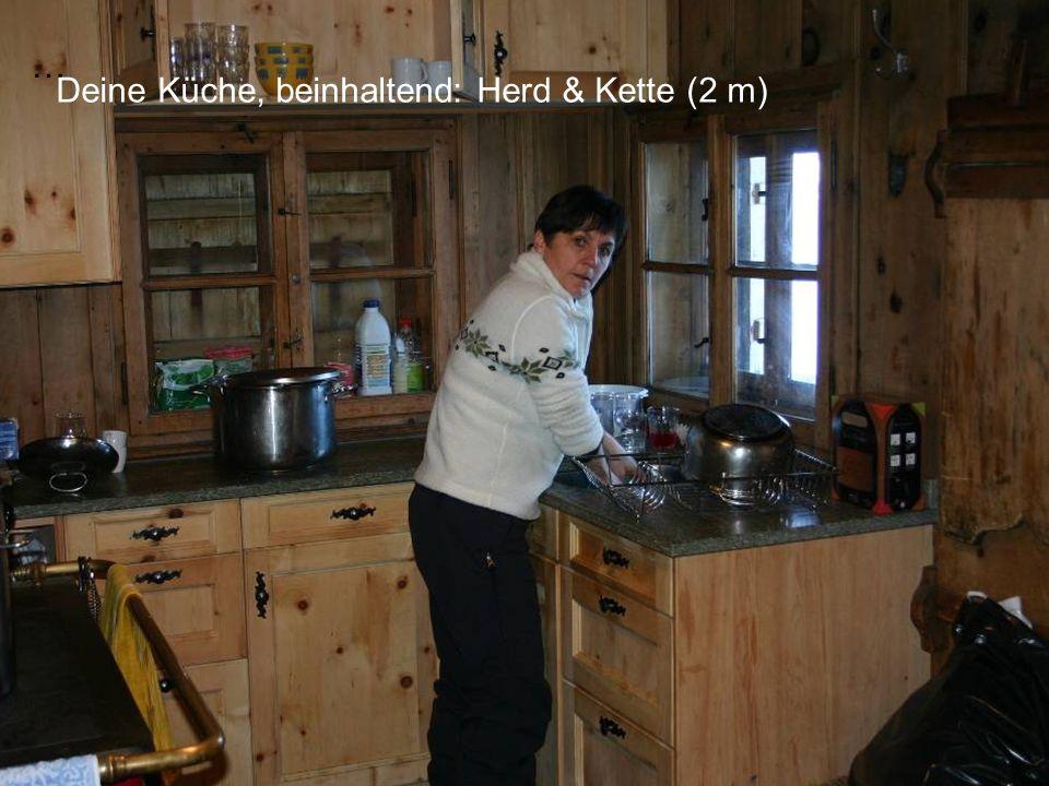 … Deine Küche, beinhaltend: Herd & Kette (2 m)
