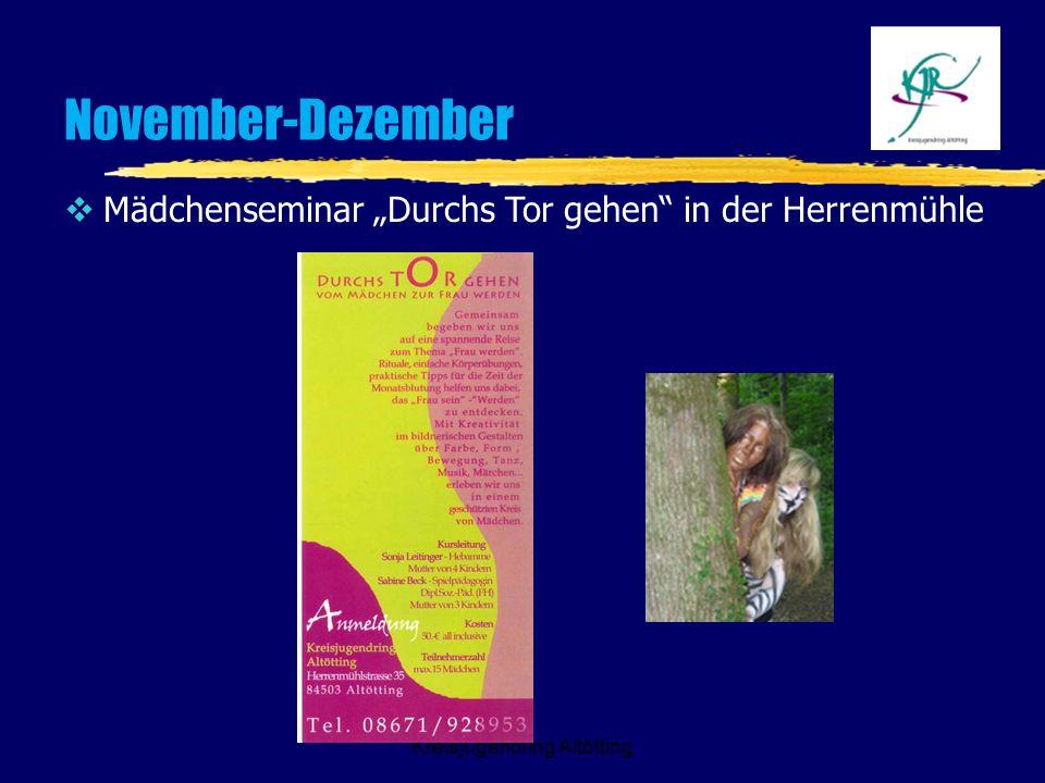 Kreisjugendring Altötting November-Dezember Mädchenseminar Durchs Tor gehen in der Herrenmühle