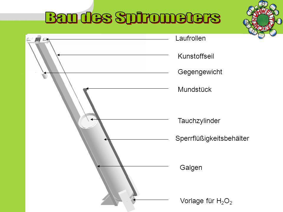 Laufrollen Gegengewicht Mundstück Sperrflüßigkeitsbehälter Tauchzylinder Vorlage für H 2 O 2 Galgen Kunstoffseil