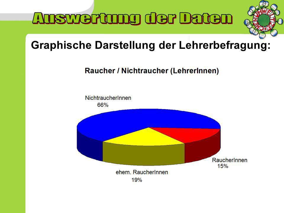 Graphische Darstellung der Lehrerbefragung: