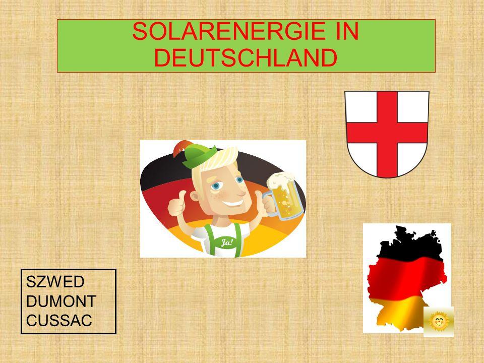 SOLARENERGIE IN DEUTSCHLAND SZWED DUMONT CUSSAC