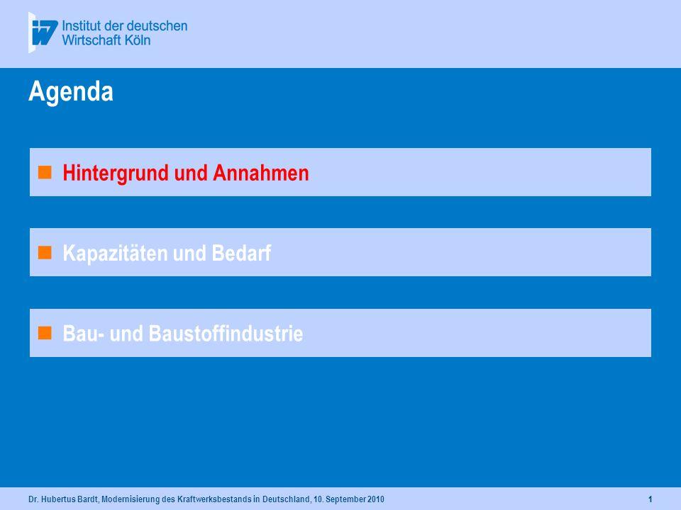 Modernisierung des Kraftwerksbestands in Deutschland Dr. Hubertus Bardt Stellv. Leiter Wissenschaftsbereich Wirtschaftspolitik und Sozialpolitik Leite
