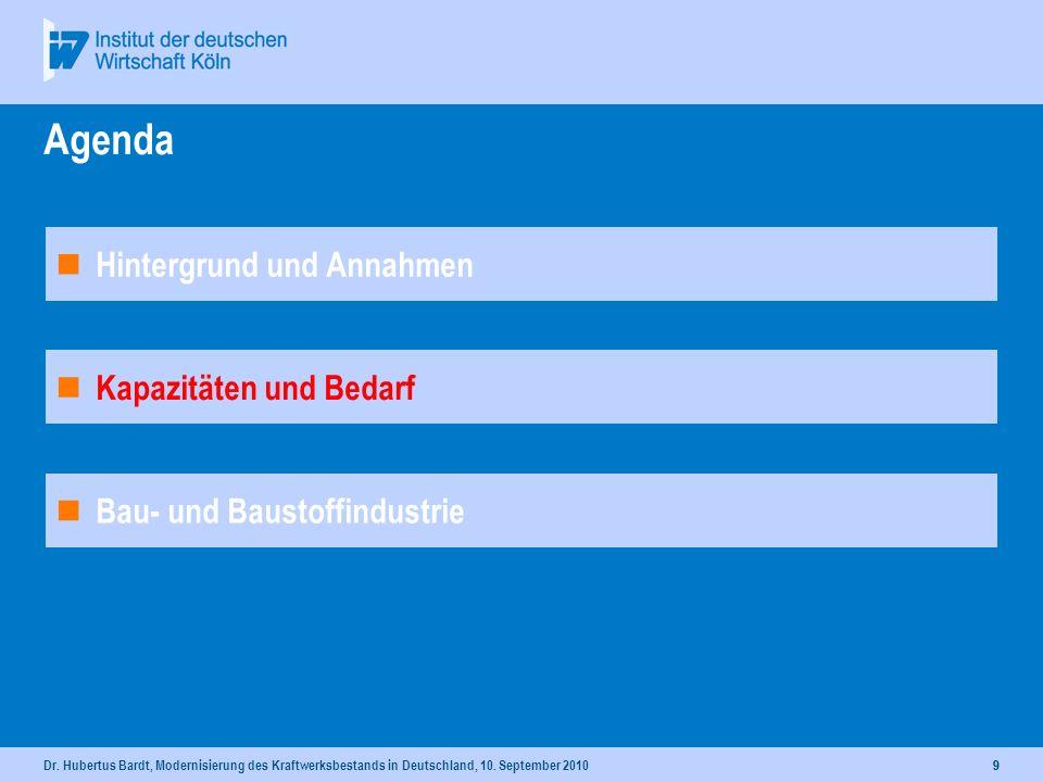 Dr. Hubertus Bardt, Modernisierung des Kraftwerksbestands in Deutschland, 10. September 20108 Typischer Anteil gesicherter Leistung von Kraftwerken Qu