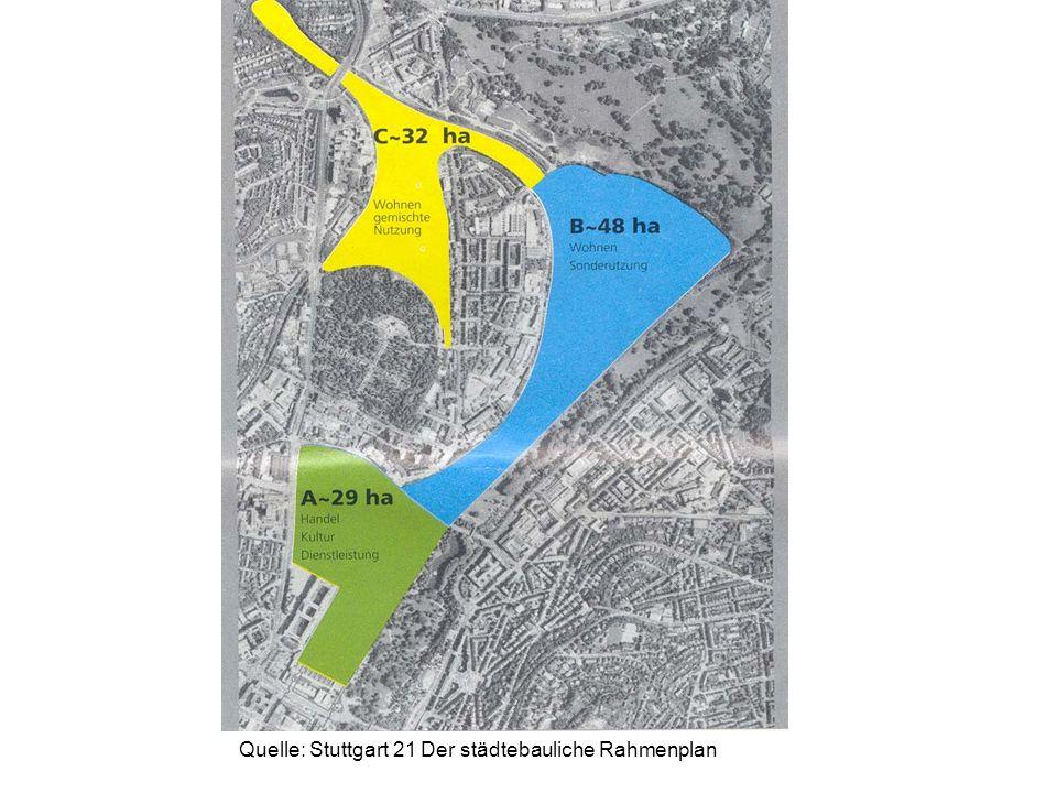 Quelle: Stuttgart 21 Der städtebauliche Rahmenplan