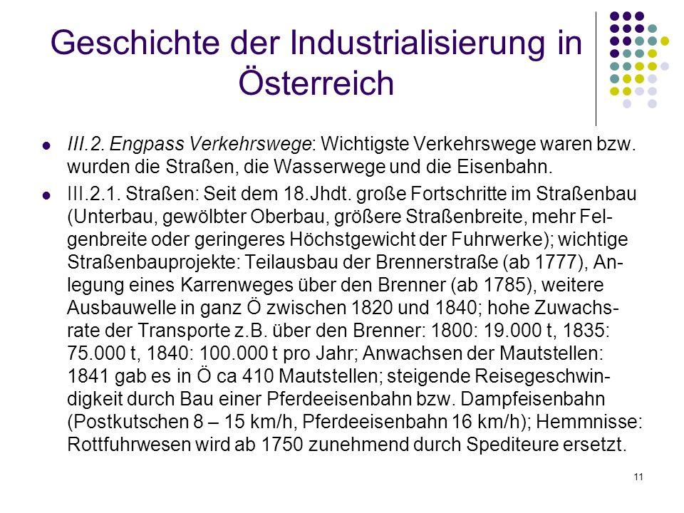 11 Geschichte der Industrialisierung in Österreich III.2.
