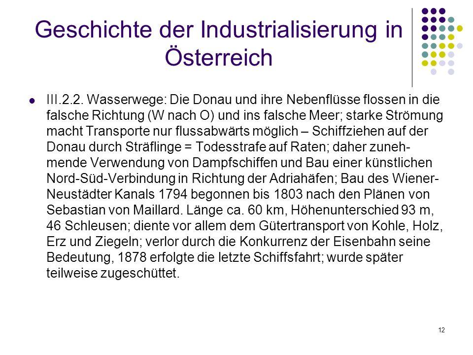 12 Geschichte der Industrialisierung in Österreich III.2.2.