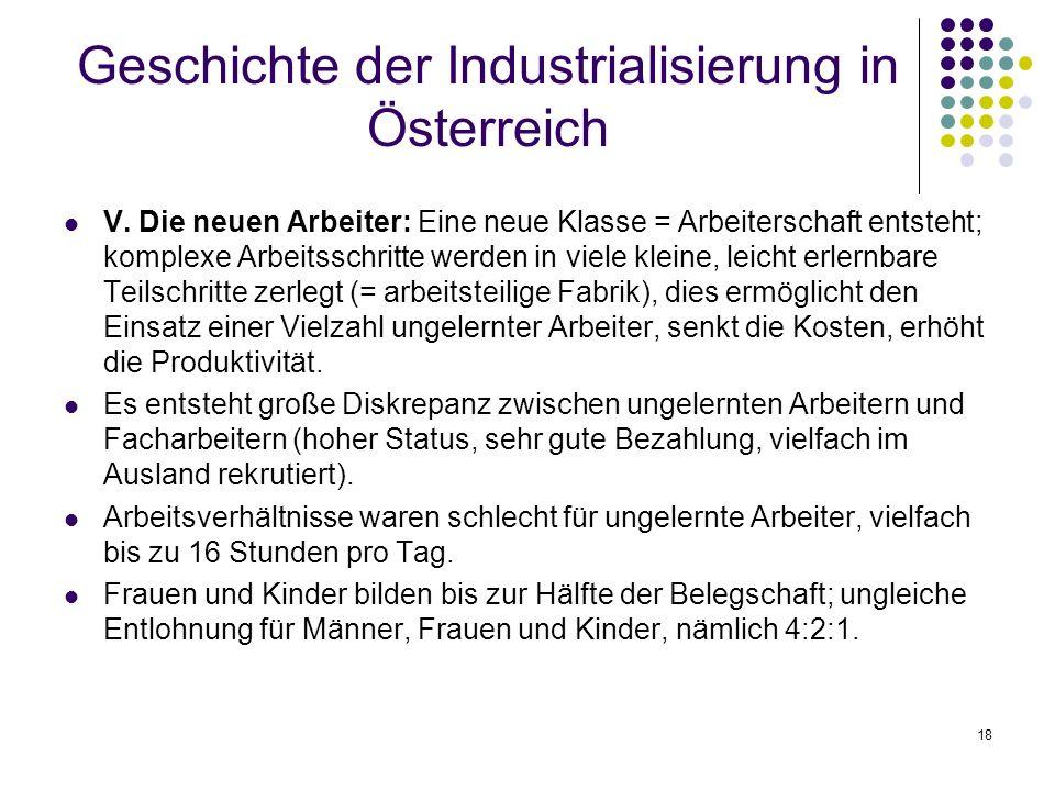 18 Geschichte der Industrialisierung in Österreich V.