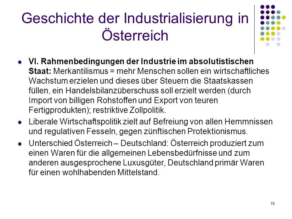 19 Geschichte der Industrialisierung in Österreich VI.